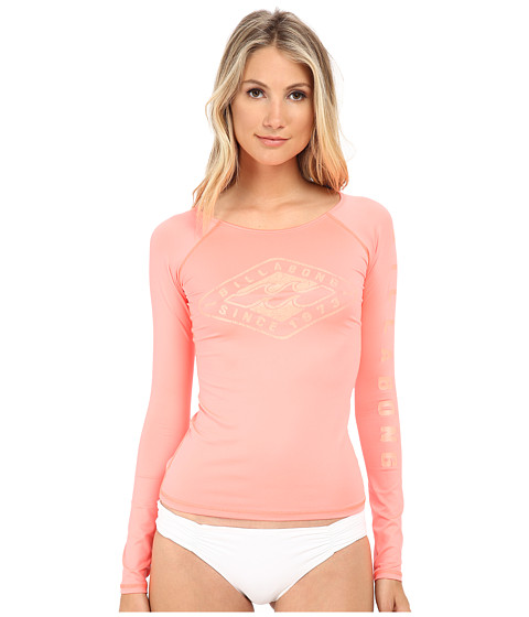 Billabong - Night Swim Long Sleeve Rashguard (Peachy Daze) Women's Swimwear