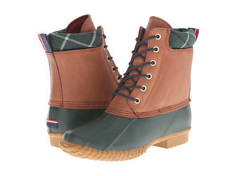 Tommy Hilfiger - Russel (Forest/Chestnut) Women's Lace-up Boots