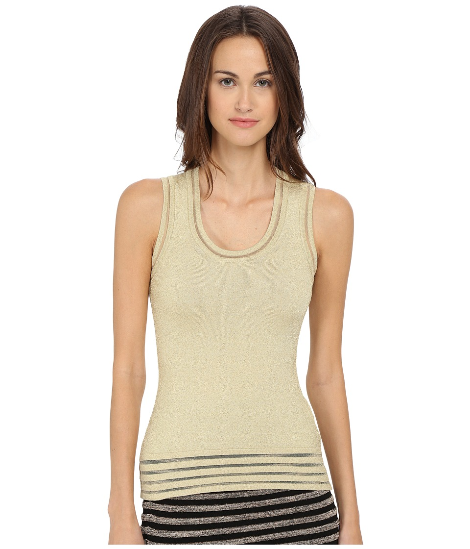 M Missoni - Solid Lurex Tank Top (Platinum) Women's Sleeveless