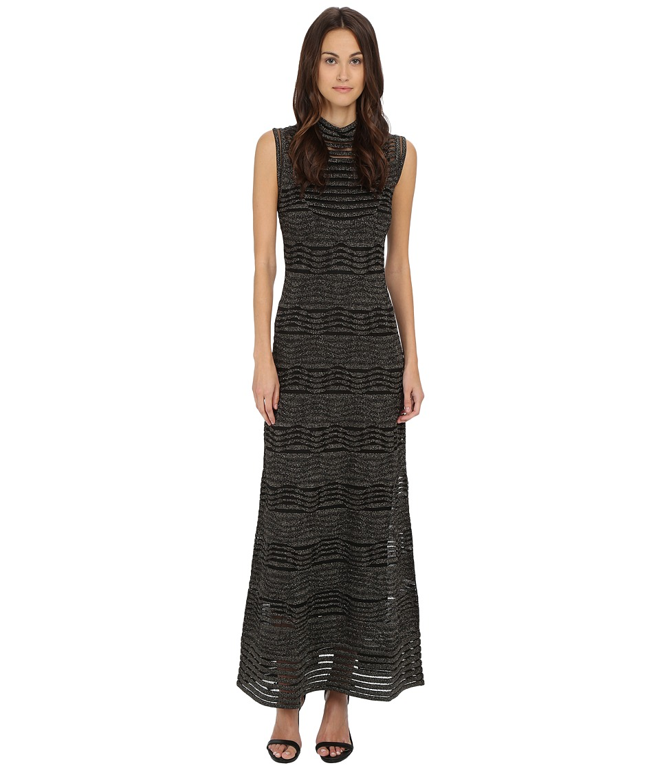 M Missoni Solid Lurex Sleeveless Maxi Dress (Black) Women