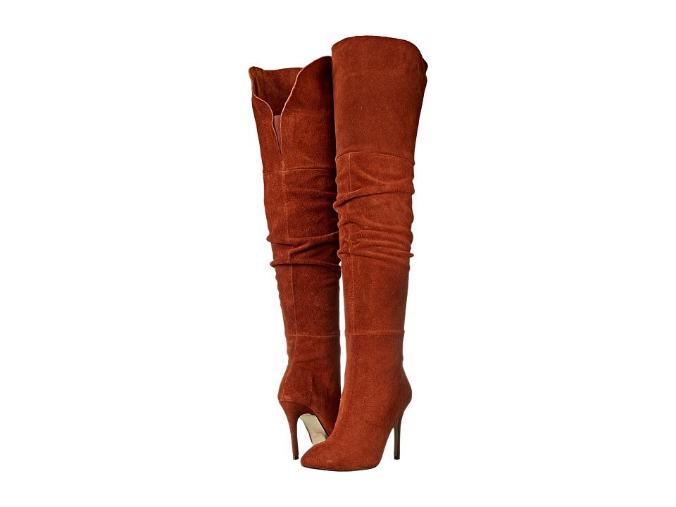 Kristin Cavallari - Calissa Over the Knee Slouch Boot (Ginger Velvet) Women