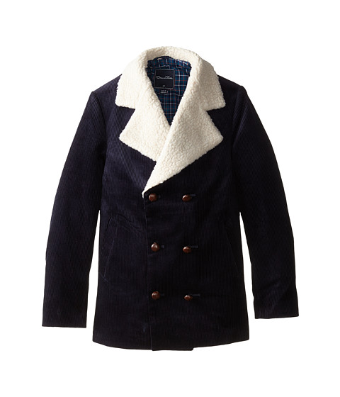 Oscar de la Renta Childrenswear - Corduroy Jacket w/ Fleece (Toddler/Little Kids/Big Kids) (Navy) Boy