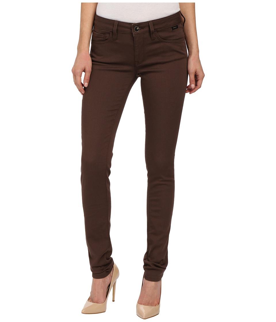 Mavi Jeans - Alexa in Chocolate Brown Gold Sateen (Chocolate Brown Gold Sateen) Women's Jeans