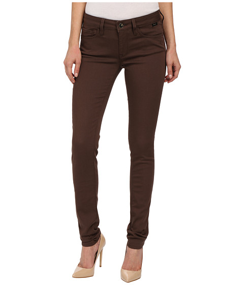 Mavi Jeans - Alexa in Chocolate Brown Gold Sateen (Chocolate Brown Gold Sateen) Women's Jeans