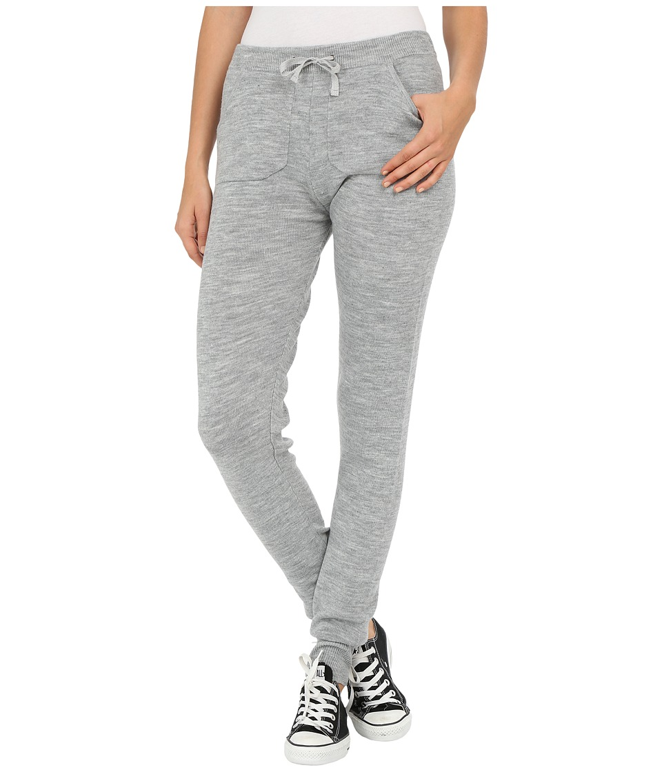 Plush - Knit Sweater Leggings (Heather Grey) Women's Clothing