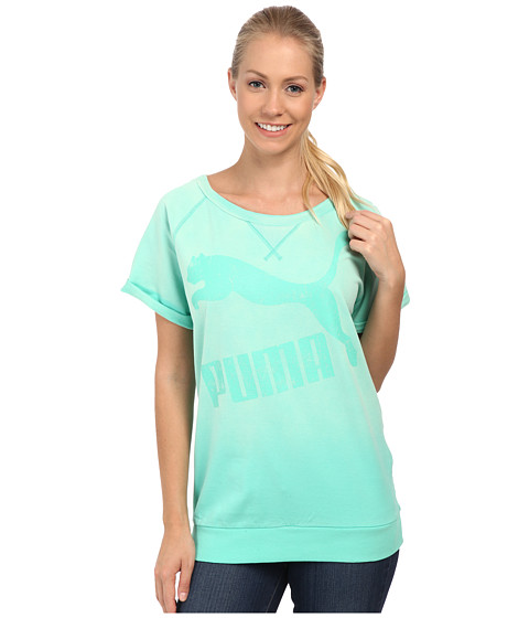 PUMA - Crew Sweat (Electric Green) Women
