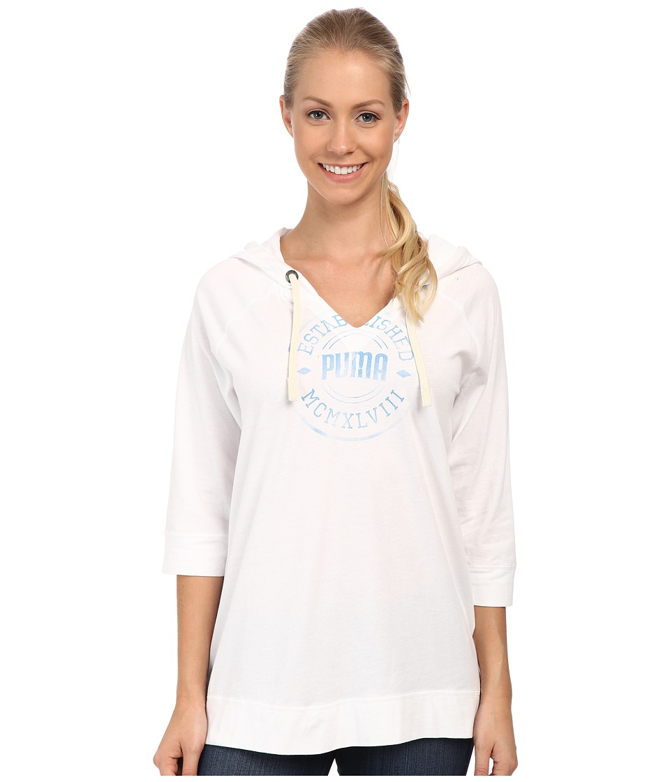 PUMA - Lightweight Cover-Up (White) Women's Clothing