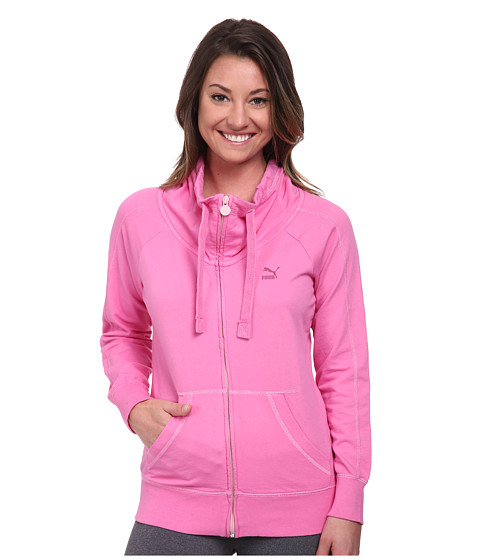 PUMA - Washed Zip Through (Pink Washed) Women