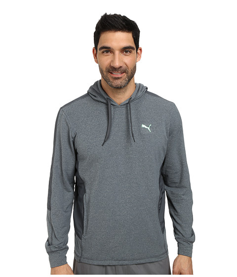 PUMA - Mixed Material Pullover (Turbulence Heather) Men's Long Sleeve Pullover
