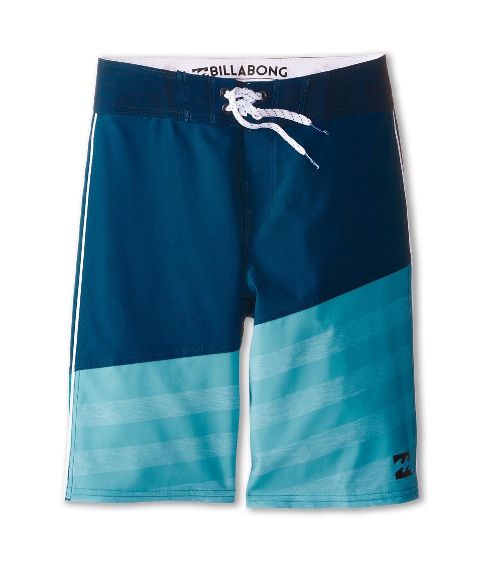 Billabong Kids - Slice A Frame X Boardshorts (Big Kids) (Blue) Boy