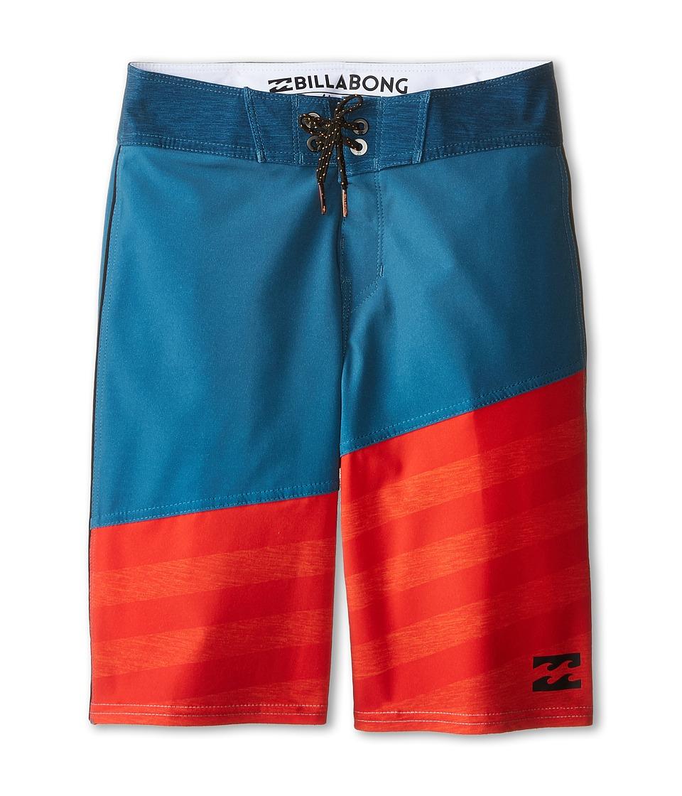 Billabong Kids - Slice A Frame X Boardshorts (Big Kids) (Petrol) Boy's Swimwear