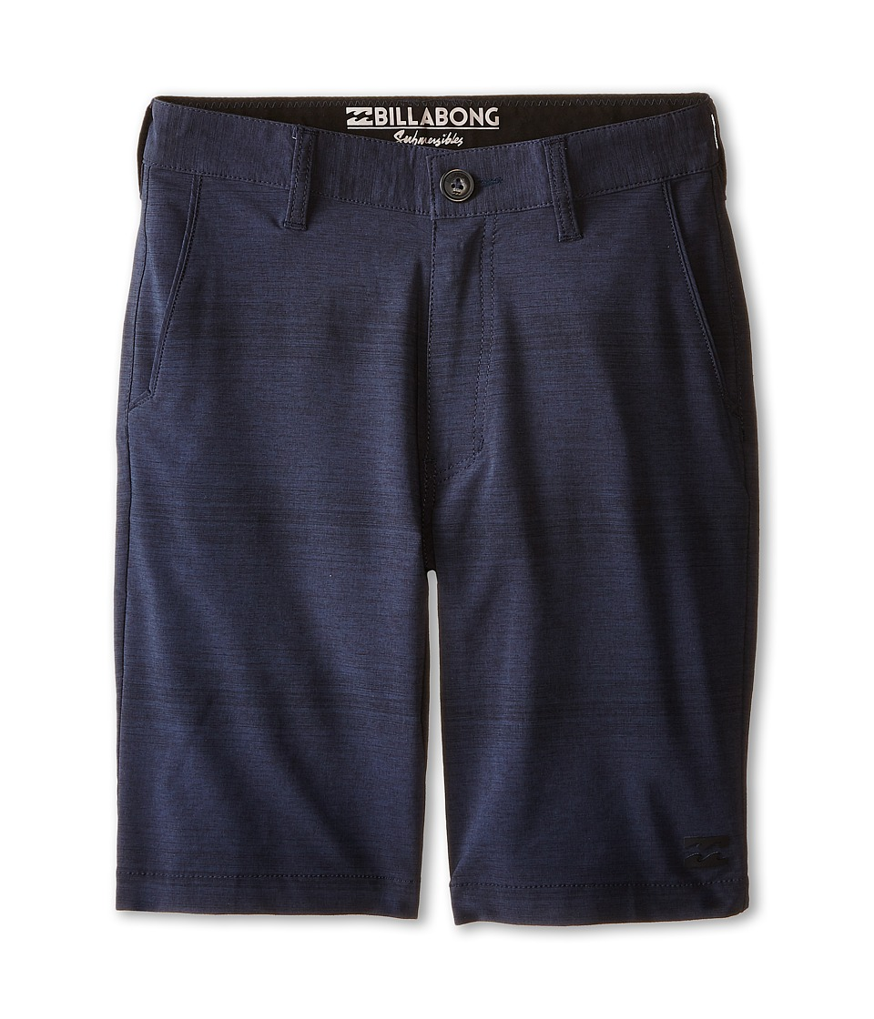 Billabong Kids - Crossfire X Stripe Walkshorts (Big Kids) (Indigo) Boy's Shorts