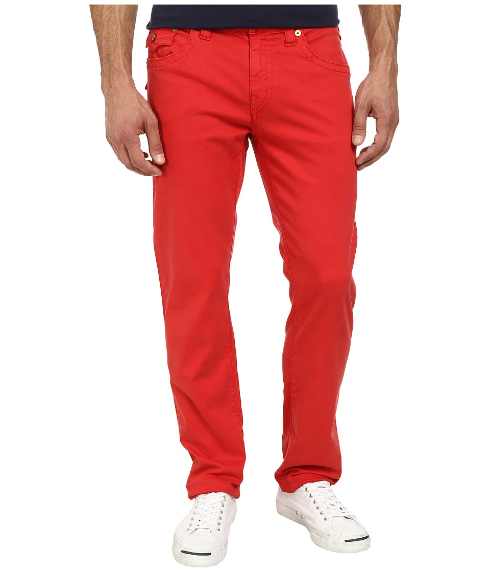 True Religion - Geno Slim Straight Twill with Flap in True Red (True Red) Men's Jeans