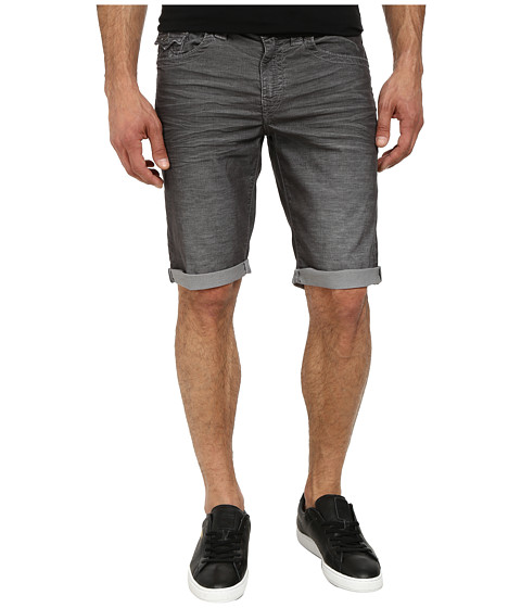 True Religion - Ricky Cord Cut Off Shorts (Iron) Men's Shorts
