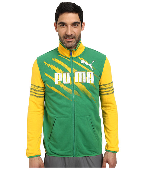 PUMA - Brazil Kicker Track Jacket (Amazon Team Yellow) Men's Jacket