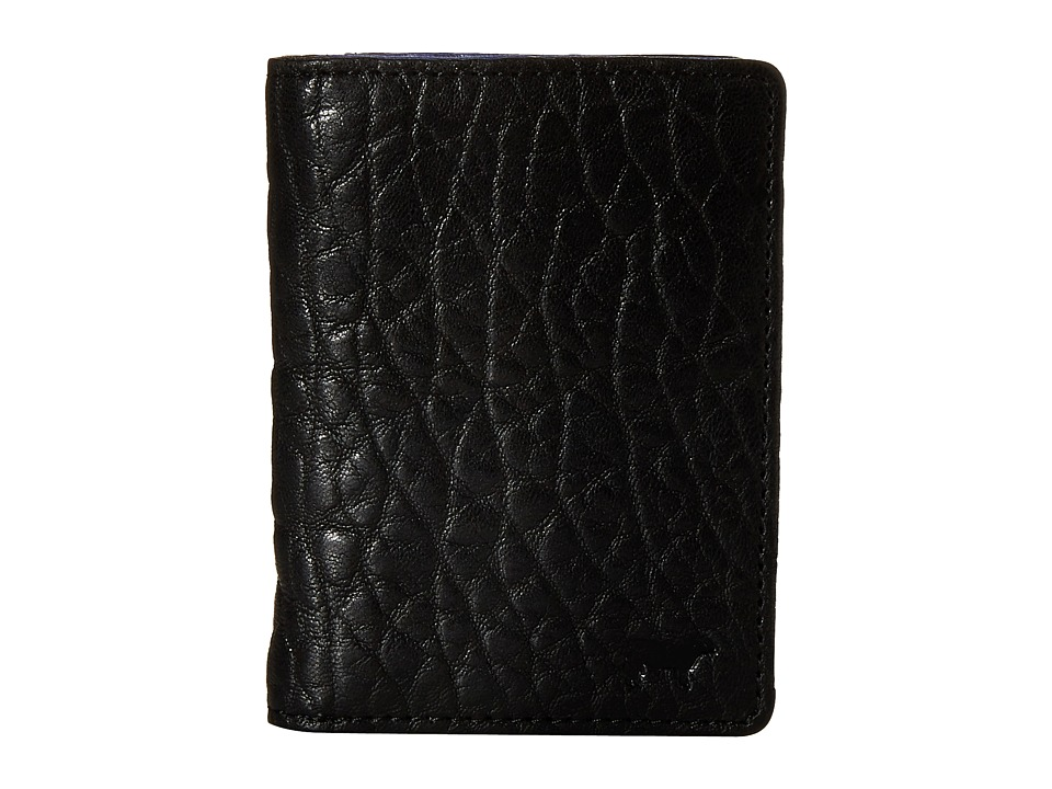 Will Leather Goods - Flip Front Pocket (Black/Royal) Wallet