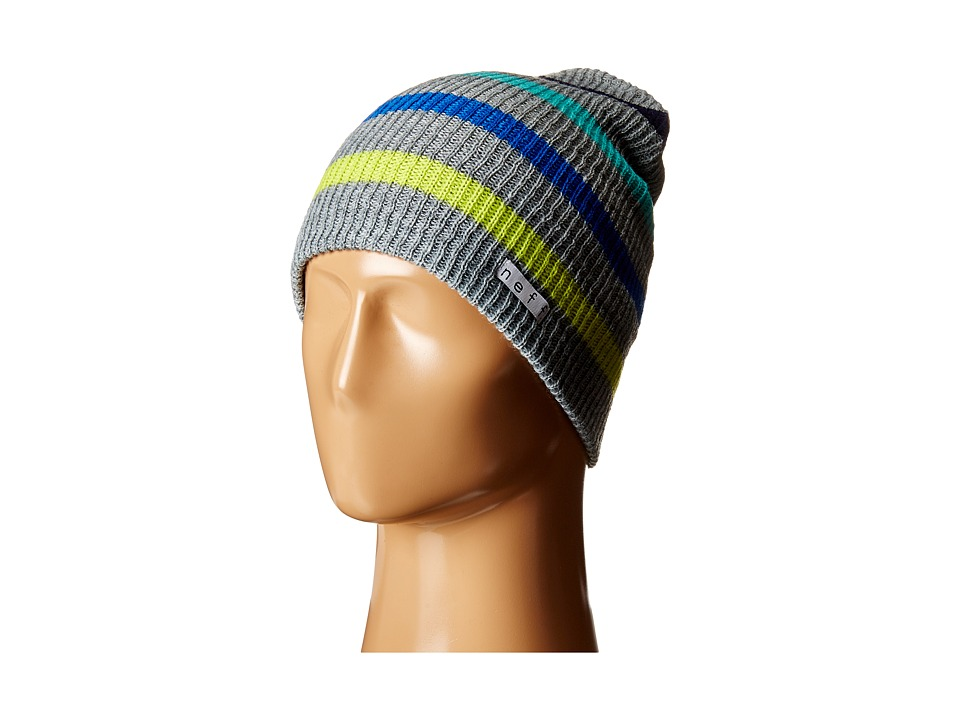 Neff - Daily Stripe Beanie (Grey/Multi) Beanies