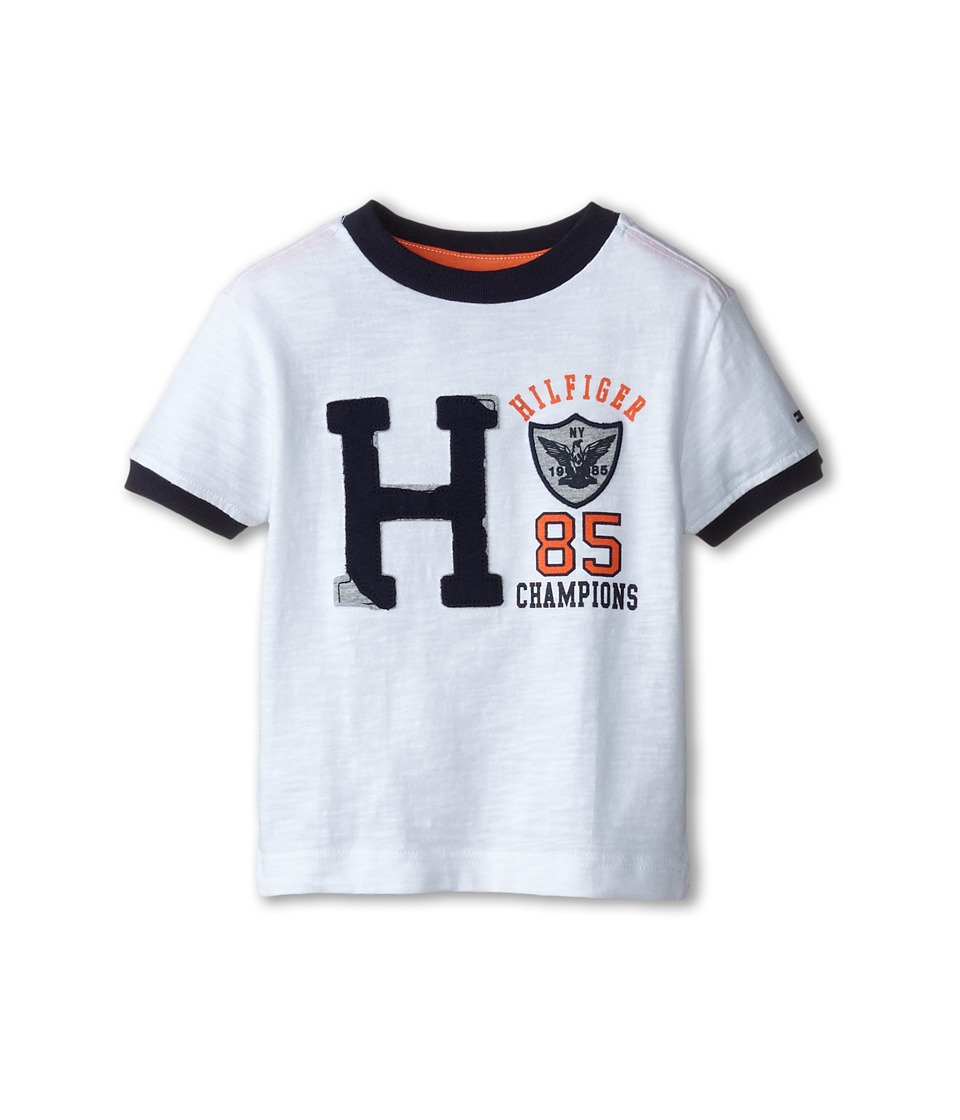 Tommy Hilfiger Kids - Short Sleeve Jenson Tee (Toddler/Little Kids) (White) Boy's T Shirt