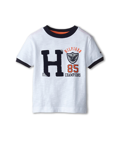 Tommy Hilfiger Kids - Short Sleeve Jenson Tee (Toddler/Little Kids) (White) Boy's T Shirt