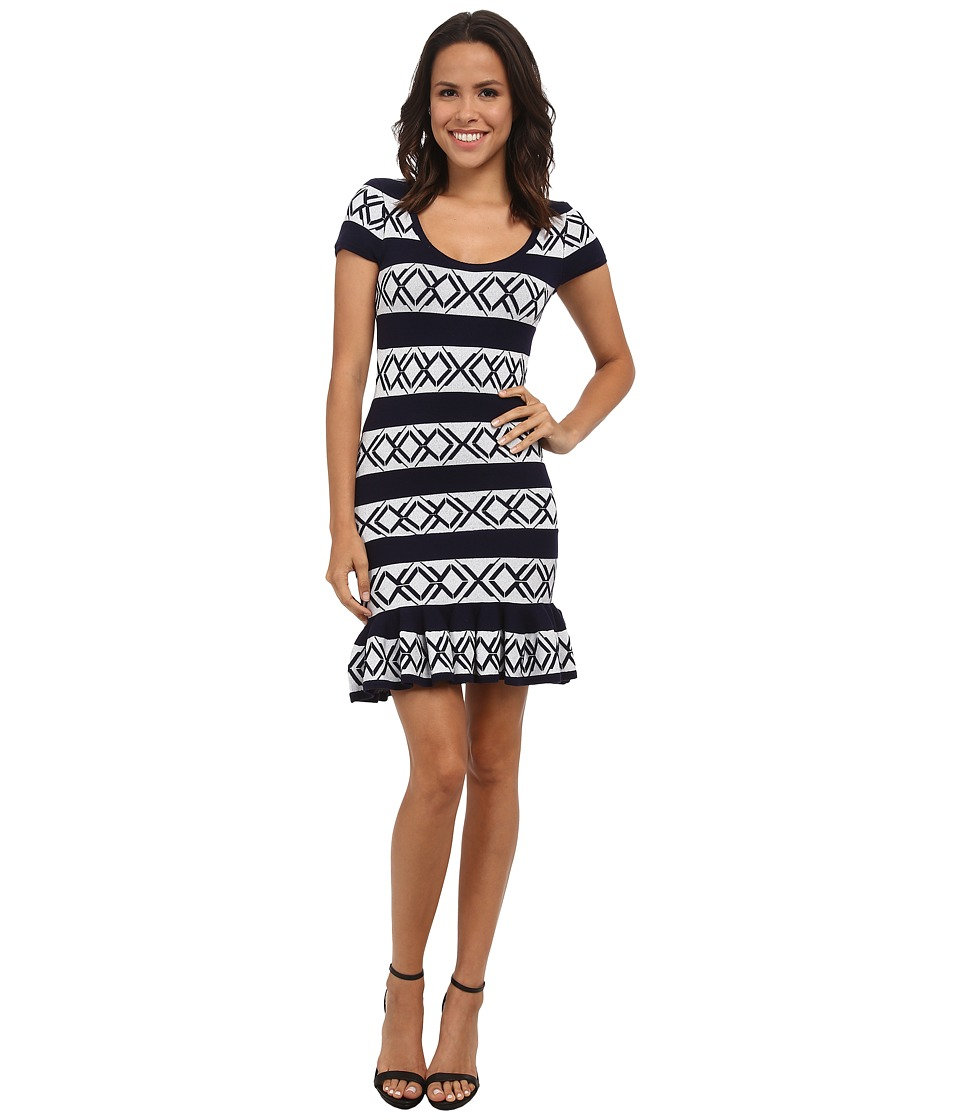 Rebecca Minkoff - Victory Dress (Cream/Navy) Women