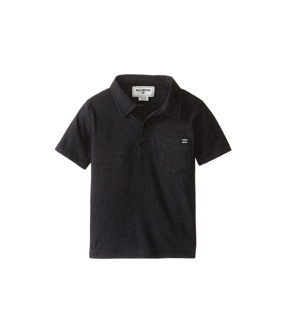 Billabong Kids - Standard Issue Polo Shirt (Toddler/Little Kids) (Black Heather) Boy's Clothing