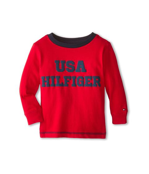 Tommy Hilfiger Kids - Long Sleeve USA Hilfiger Tee (Toddler/Little Kids) (Bulls Eye) Boy