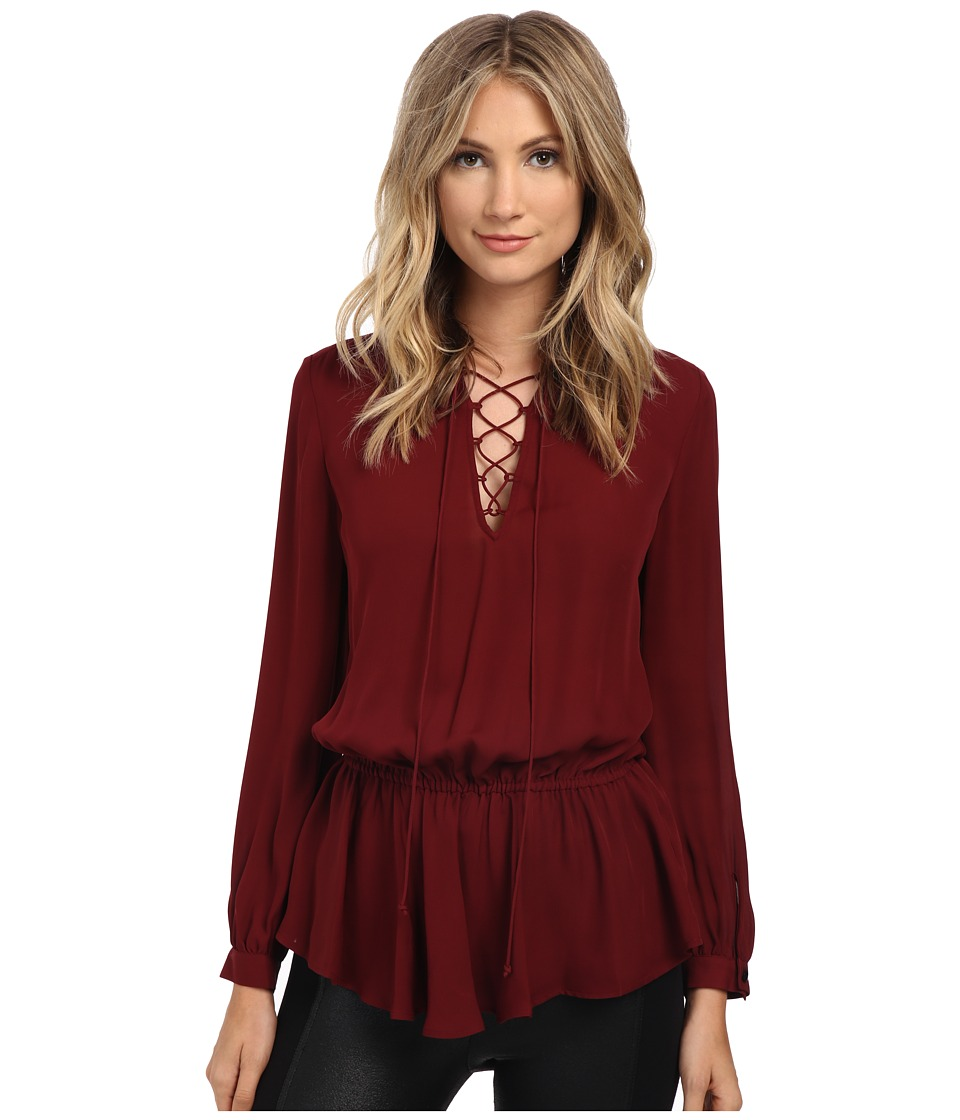Rebecca Minkoff - North Top (Wine) Women's Long Sleeve Pullover