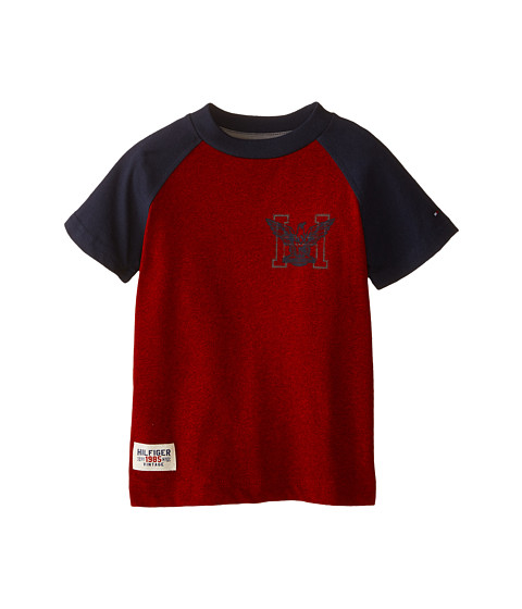 Tommy Hilfiger Kids - Marled Short Sleeve Crew Tee (Toddler/Little Kids) (Bulls Eye) Boy