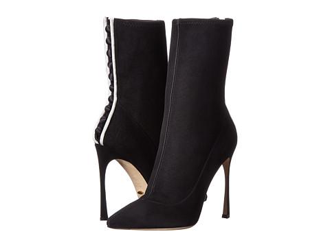 Sergio Rossi - Tuxedo (Black/White Satin) Women's Pull-on Boots