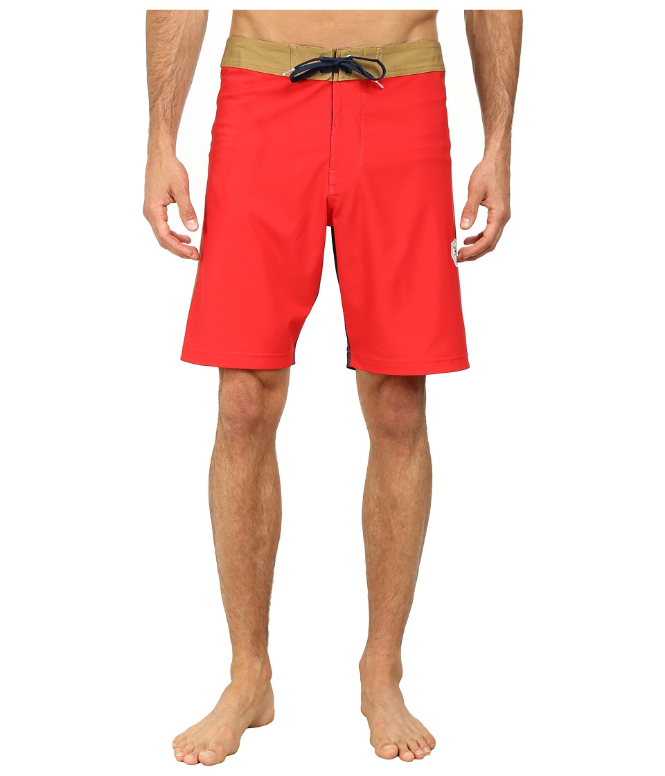VISSLA - Rhyder Boardshorts (Bright Red) Men's Swimwear