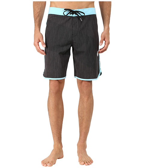 VISSLA - Cut Back Boardshorts (Black) Men's Swimwear