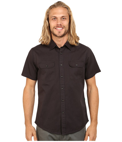 VISSLA - Aliso Short Sleeve Woven (Phantom) Men