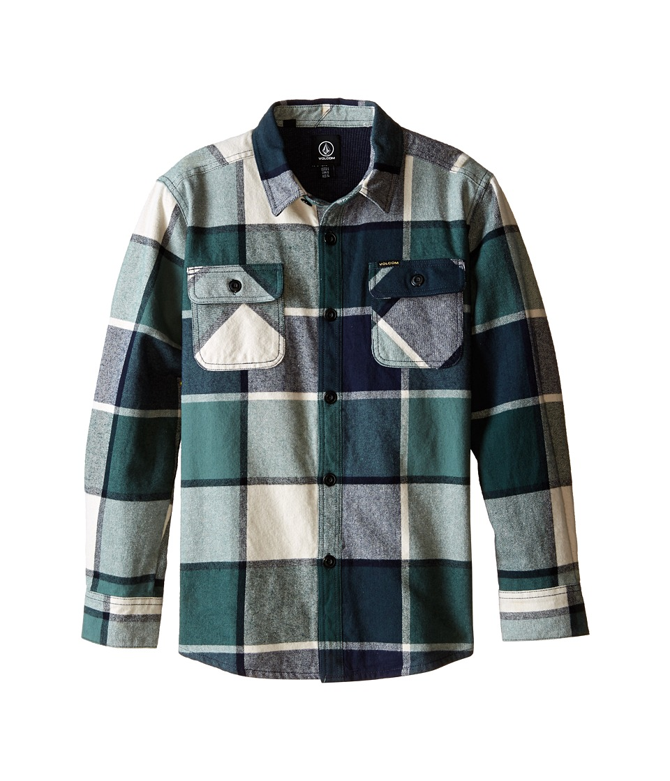 Volcom Kids - Dayton Long Sleeve (Big Kids) (Navy) Boy's Clothing