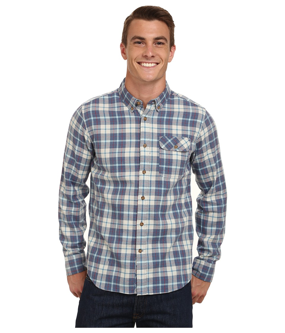 VISSLA - Highland Long Sleeve Woven (Blue Fog) Men's Long Sleeve Button Up