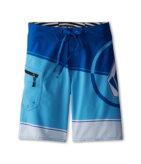 Volcom Kids - Lido Ion 2 Boardshorts (Big Kids) (Cyan) Boy
