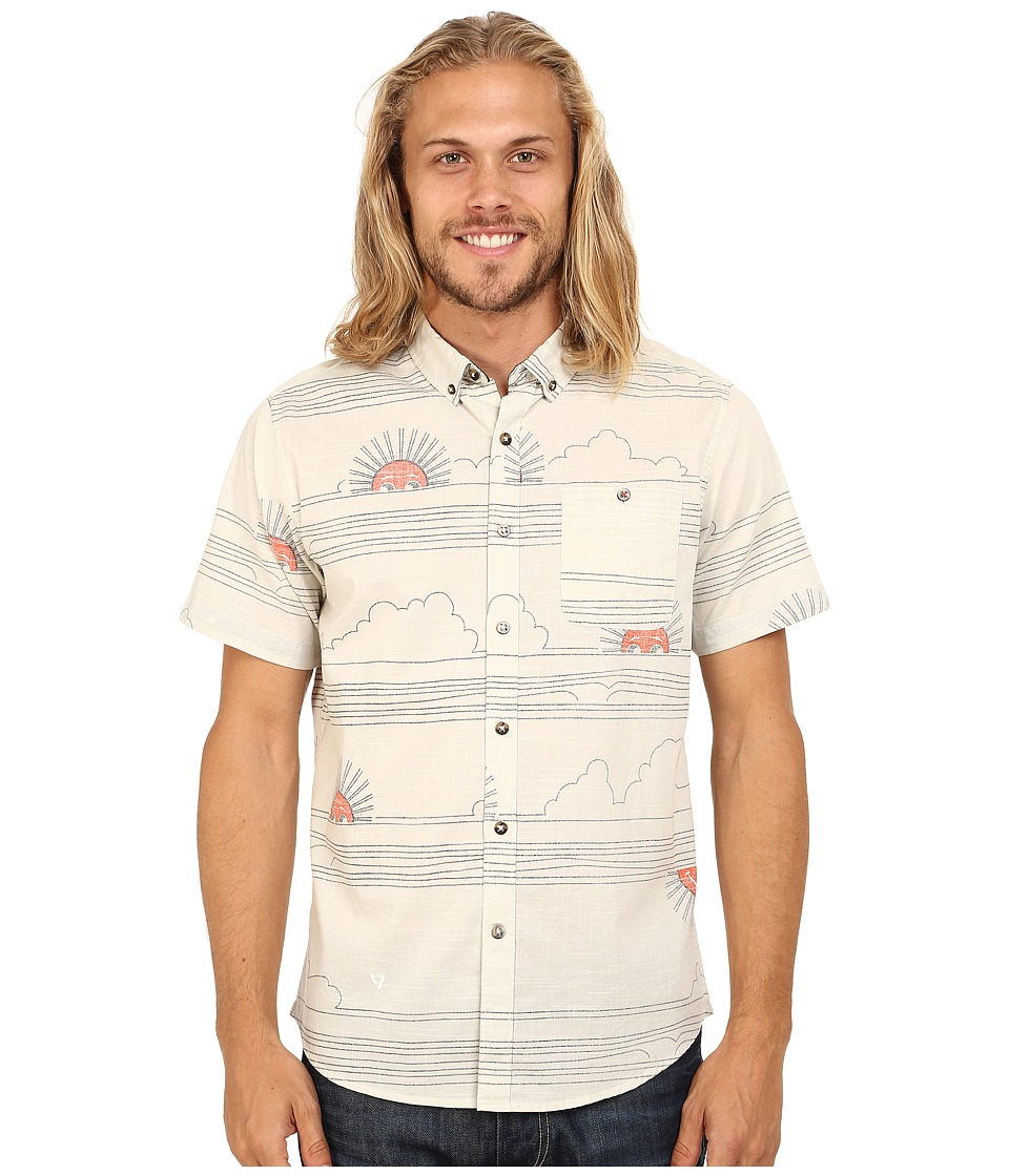 VISSLA - Sunsets Short Sleeve Woven (Bone) Men's Short Sleeve Button Up
