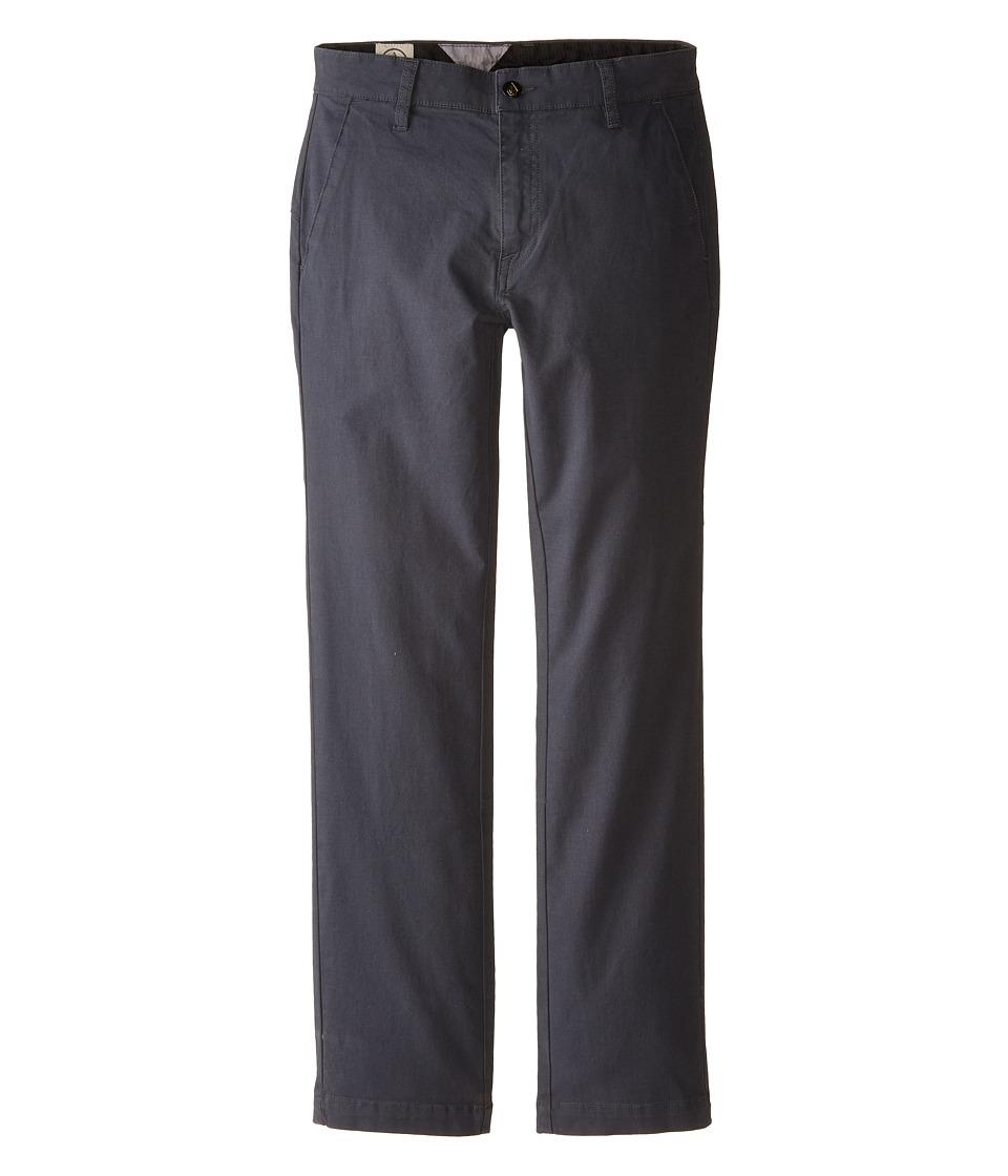 Volcom Kids - Frickin Slim Canvas (Big Kids) (Charcoal) Boy's Casual Pants