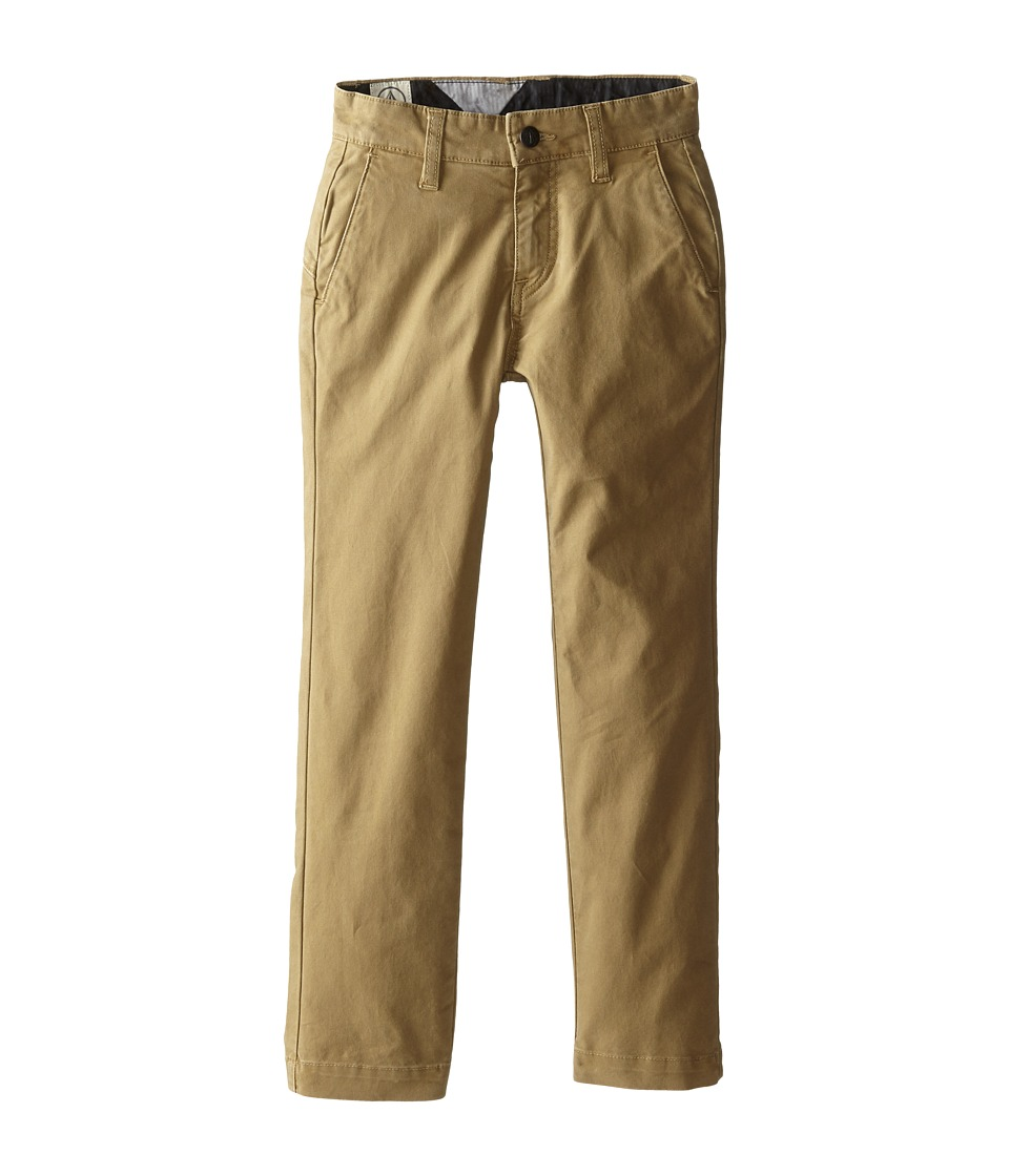 Volcom Kids - Frickin Slim Canvas (Big Kids) (Dark Khaki) Boy's Casual Pants