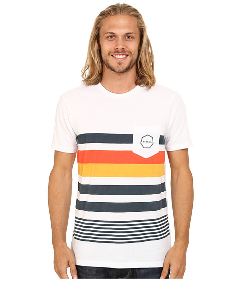 VISSLA - Pinto Pocket Tee (White) Men
