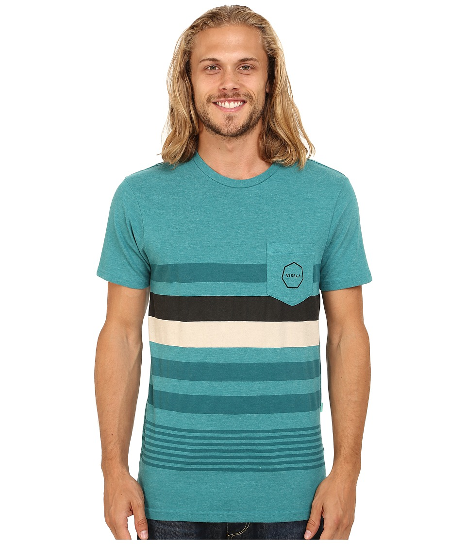 VISSLA - Pinto Pocket Tee (Teal Heather) Men