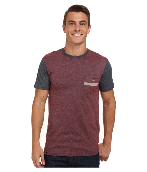 VISSLA - Seven Sets Pocket Tee (Wine) Men