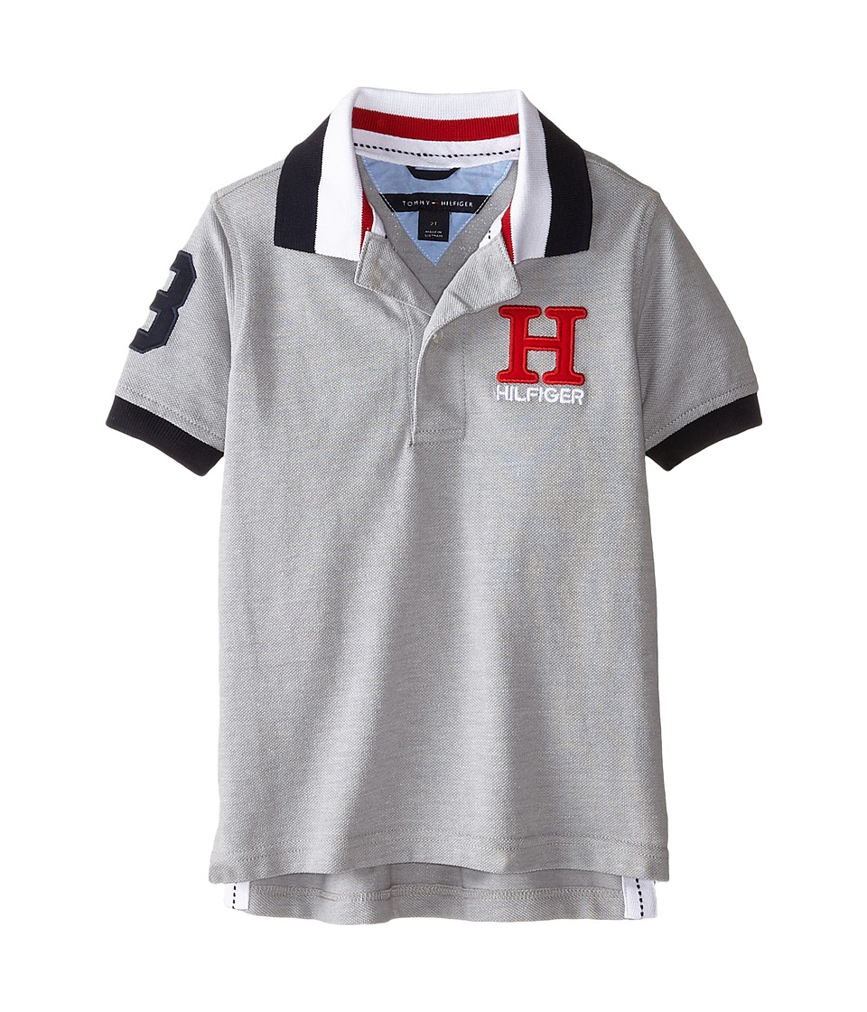 Tommy Hilfiger Kids - Short Sleeve Matt Polo (Toddler/Little Kids) (Grey Heather) Boy's Short Sleeve Pullover