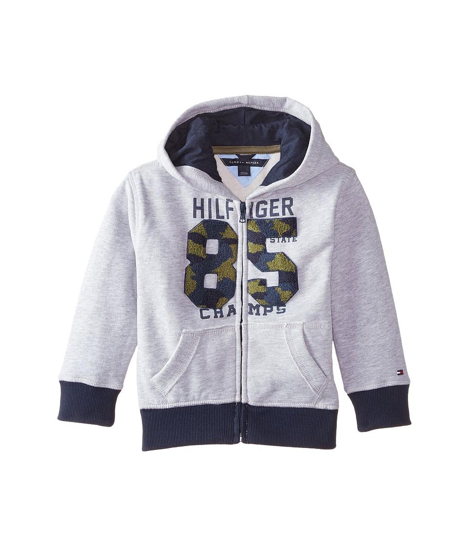 Tommy Hilfiger Kids - Camo Chenille 85 Hoodie (Toddler/Little Kids) (Grey Heather) Boy