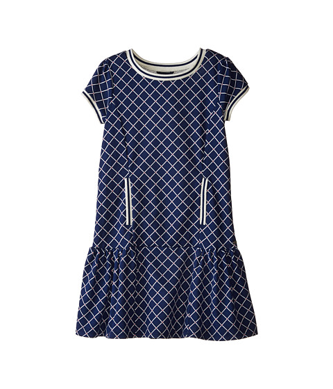 Tommy Hilfiger Kids - Printed French Terry Dress (Big Kids) (Flag Blue) Girl