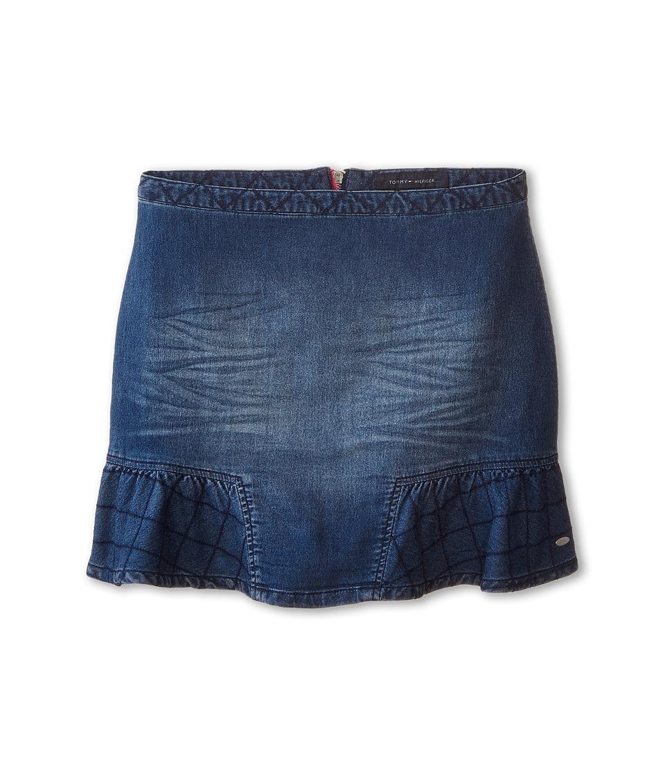 Tommy Hilfiger Kids - Patch Pocket Skirt (Big Kids) (Indigo Blue) Girl