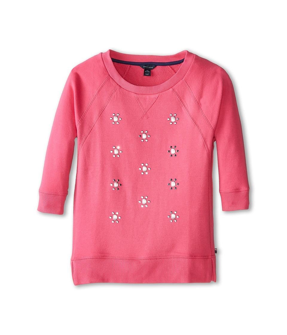 Tommy Hilfiger Kids - All Over Jewel Crew Neck (Big Kids) (Lollipop) Girl