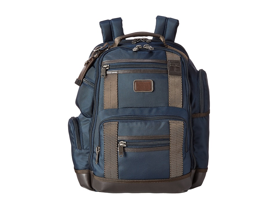 Tumi - Alpha Bravo - Kingsville Deluxe Brief Pack (Navy) Backpack Bags