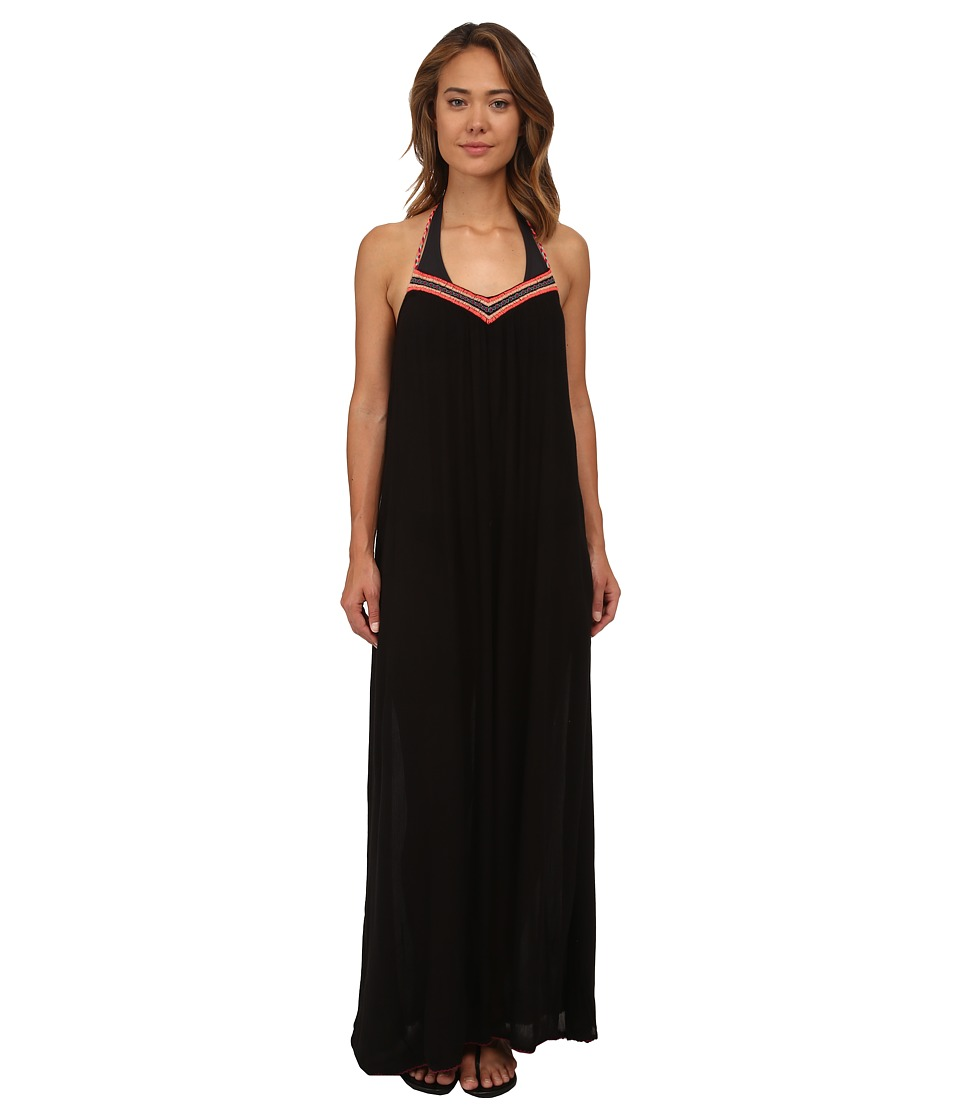 Roxy - Livin' Free Maxi Cover-Up (True Black) Women's Swimwear