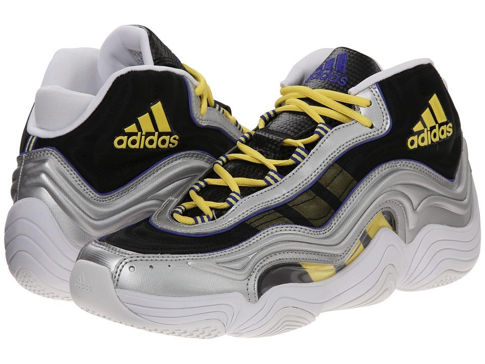 adidas - Crazy 2 (Silver Metallic/Light Yellow/Night Flash Purple) Men's Shoes