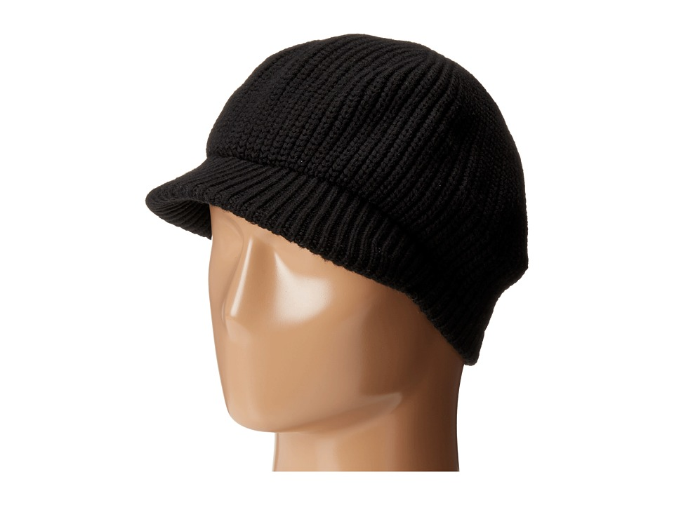 Echo Design - Chunky Newsboy Hat (Black) Caps